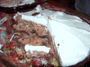 Rocky road ice cream pie